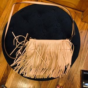 Rebecca Minkoff Pink fringe purse great condition!